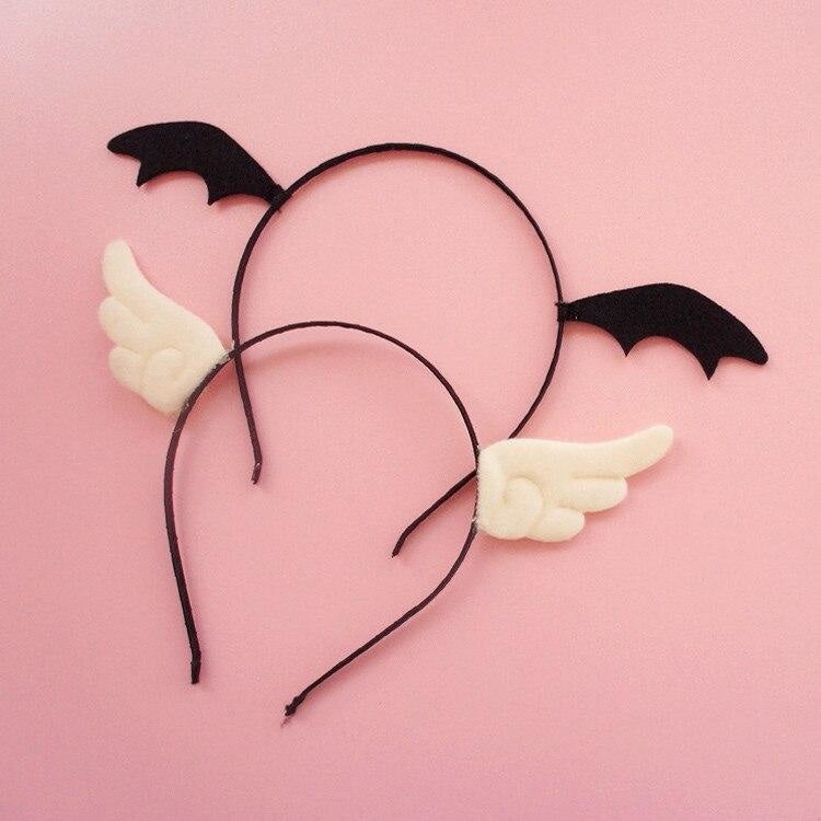Bat Wing Headband & Clips - angel, angel wings, angels, bat card captor