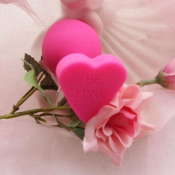 Pink Silicone Heart Butt Plugs Be Mine Valentine Day Kink Fetish Anal Plugs by DDLG Playgroun