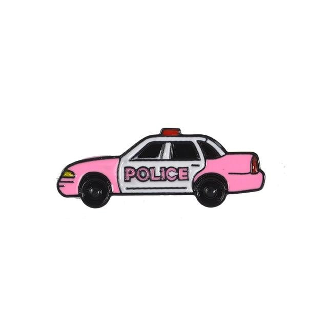 Big Butt Bigger Heart Pin - Pink Police Care - enamel pin