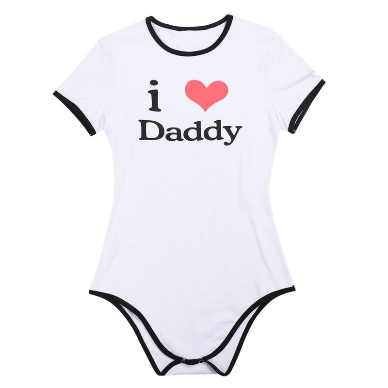 I Love Daddy Adult Onesie Romper Jumpsuit ABDL Ageplay CGL by DDLG Playground