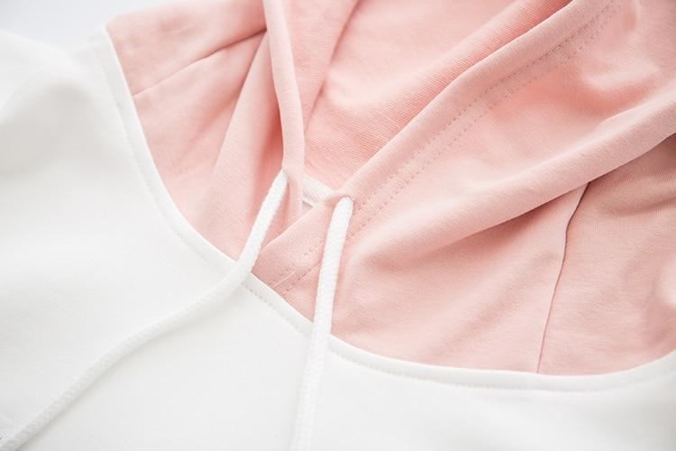 Pastel Pink Bling Bling Bunny Anime Girl Hoodie Sweater Hooded Sweatshirt Kawaii Fashion Fairy Kei