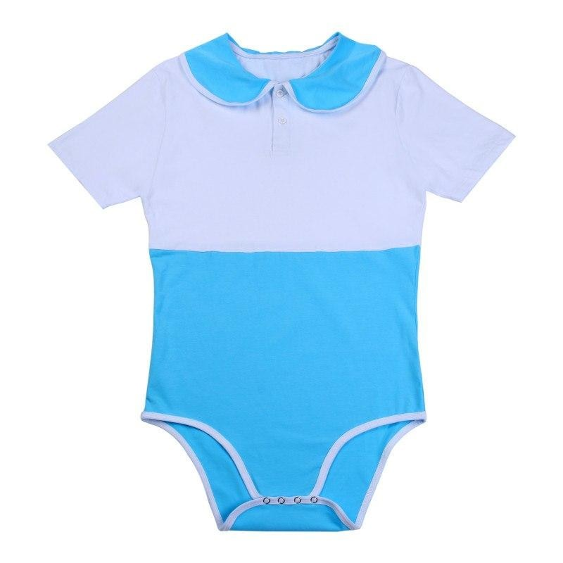 Blue School Girl Adult Onesie Snap Crotch Romper Jumpsuit Collared Little Space CGL ABDL Age Play by DDLG Playground