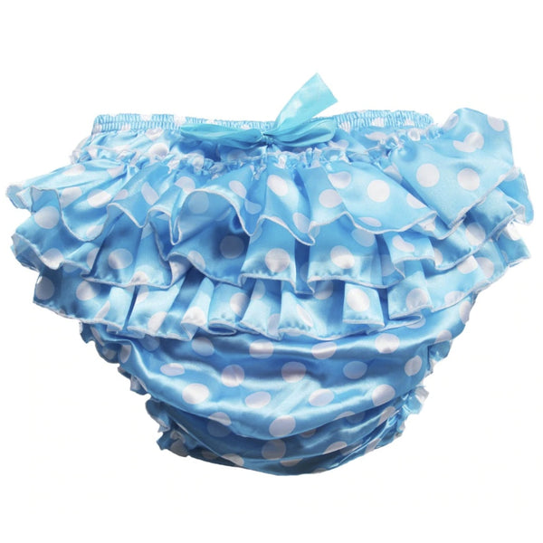 Blue Ruffled Polkadot Sissy Plastic Pants Diaper Cover ABDL Adult Baby Ageplay CGL Kink Fetish by DDLG Playground