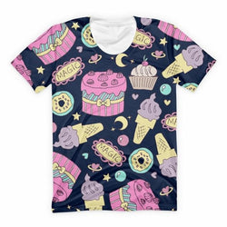 Candy Gamer Tee - Black Cakes & Candy / XXL - shirt