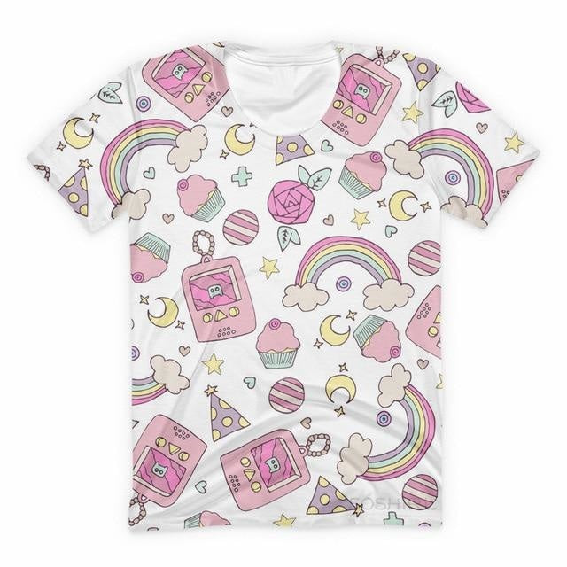 Candy Gamer Tee - White Gameboy / XXXL - shirt