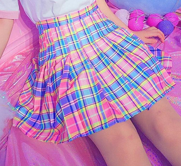 Candy Plaid Skirt - skirt