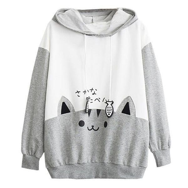 Catfish Hoodie - Gray / S / China - sweater
