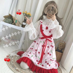 Cherry Sweetheart Dress - Cherry Print - dress
