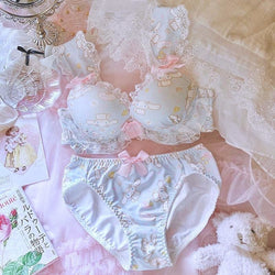 Cinnamoroll Luxury Lingerie Set - 70B / 32B - bra, bras, brasier, cinnamoroll, cups