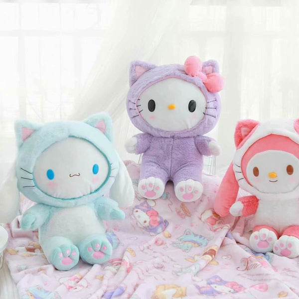 Fairy Kei Pastel Pink My Melody Blanket and Plush Toy Storage Set Kawaii Cute