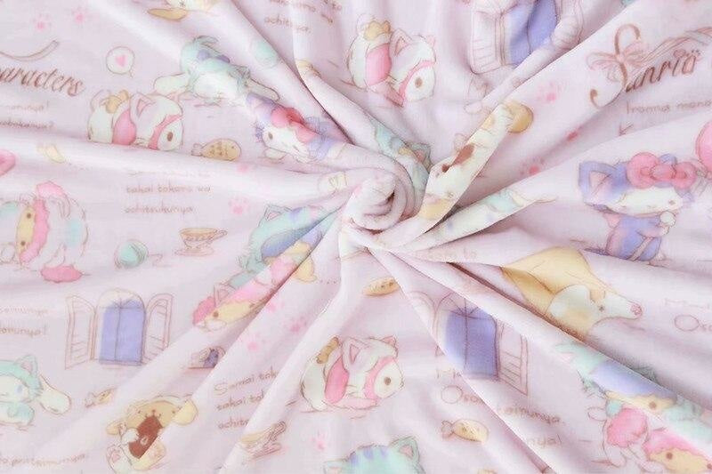 Fairy Kei Pastel Cinnamoroll Blanket and Plush Toy Storage Set Kawaii Cute