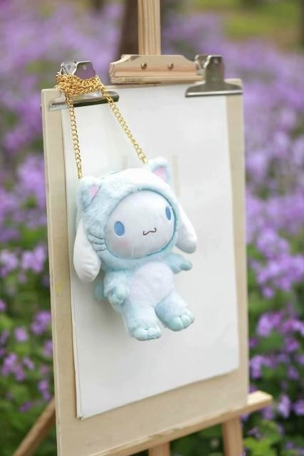 Fairy Kei Pastel Blue Cinnamoroll  Plush Toy Bag Purse Storage Kawaii Cute