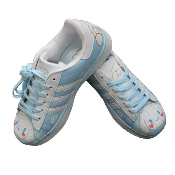 Cinnamoroll Sneakers - 9 - athletic shoes, blue cinnamoroll, flat harajuku