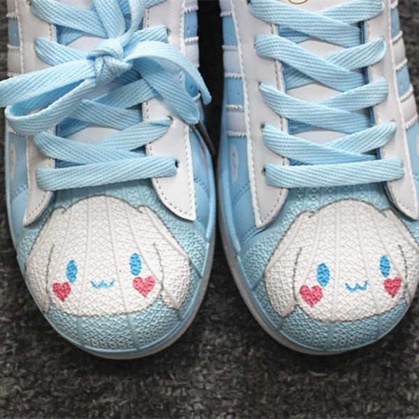Cinnamoroll Sneakers - athletic shoes, blue cinnamoroll, flat harajuku