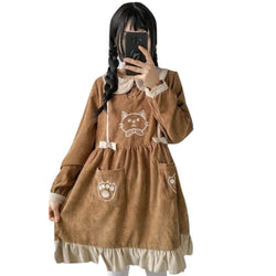 Corduroy Kitten Dress - jumper