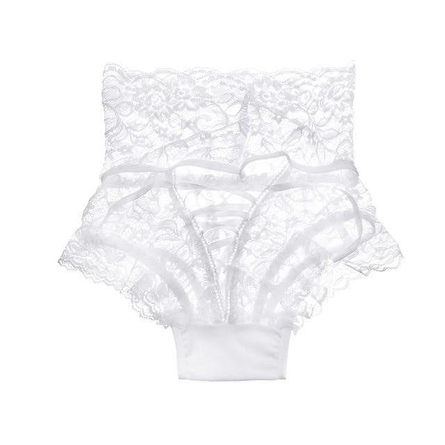 Corset High Waist Panties (Up to 3XL) - White / L - underwear