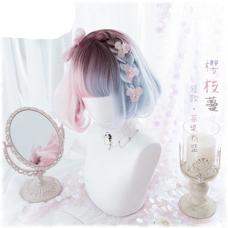 Cotton Candy Bob Wig - wig