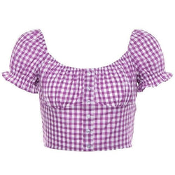 Country Baby Crop Top - Purple / L - shirt