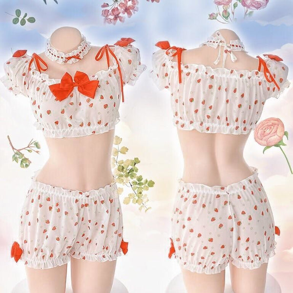 Country Strawberry Outfit - lingerie