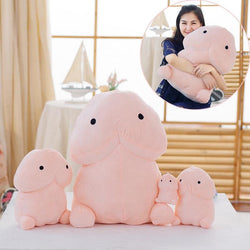 Kawaii Pink Penis Plush Toy Dick Shaped Cock Schlong Stuffed Animal Kinky Fetish by DDLG Playground