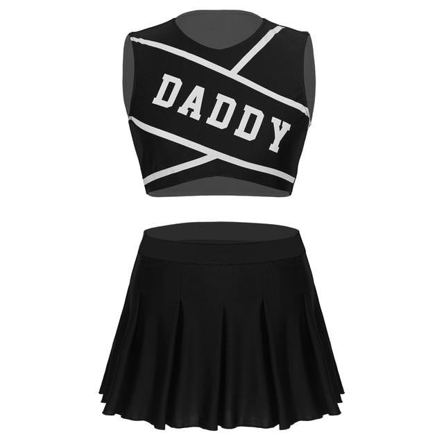 Daddy Cheerleader Outfit - Black / XL - costume