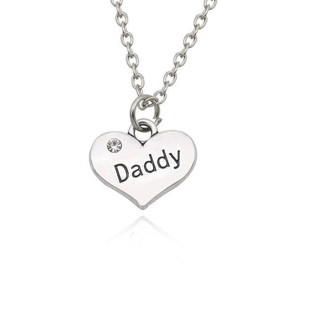 daddy and baby girl silver diamond rhinestone heart pendant necklace abdl cgl little space dd/lg jewelry by ddlg playground