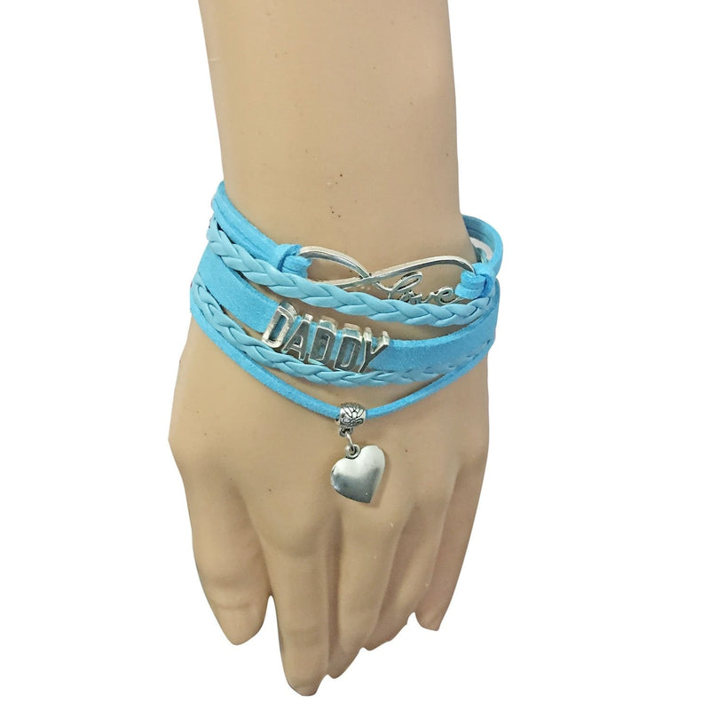 Blue Daddy Wrap Bracelet Charm ABDL CGL DD/LG BDSM Kink Fetish by DDLG Playground