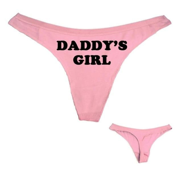 Daddys Girl Thong - Pink / S - diaper