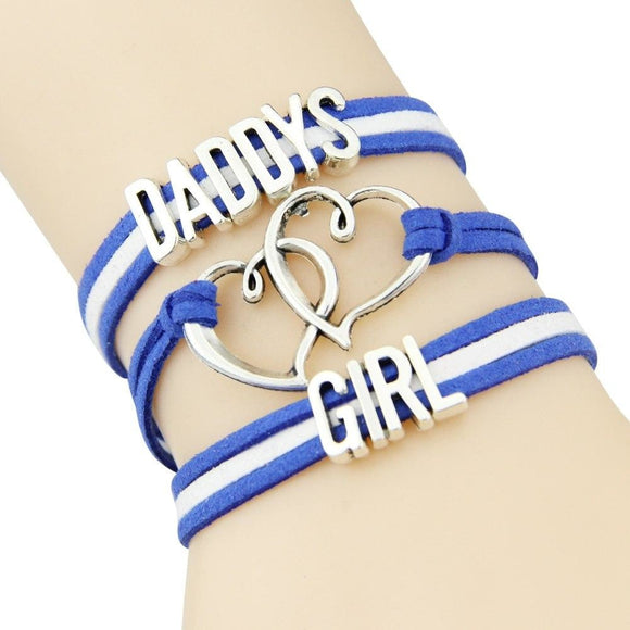 Blue Daddy's Girl Wrap Bracelet ABDL AGe Play DD/LG Fetish Kink Vegan Leather by DDLG Playground