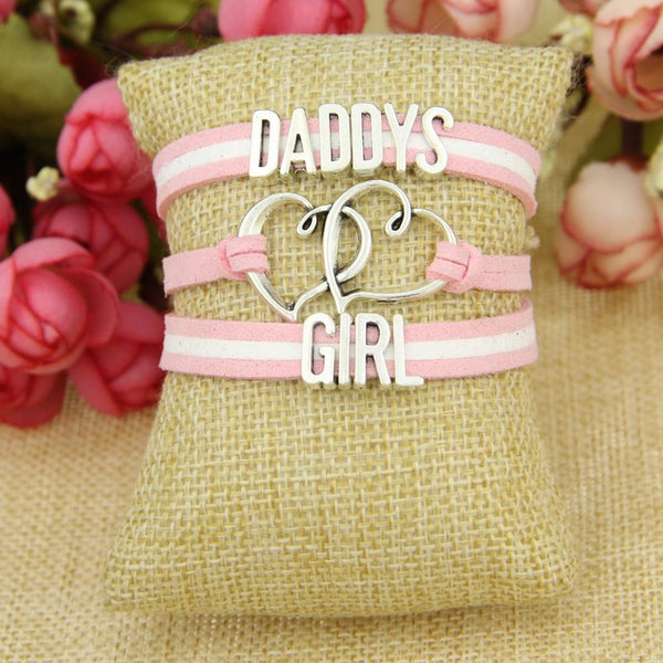 Pink Daddy's Girl Wrap Bracelet ABDL AGe Play DD/LG Fetish Kink Vegan Leather by DDLG Playground