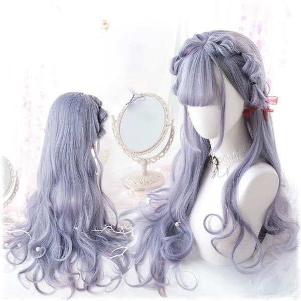 Dark Lavender Purple Hair Cosplay Wig Harajuku Kawaii Fashion