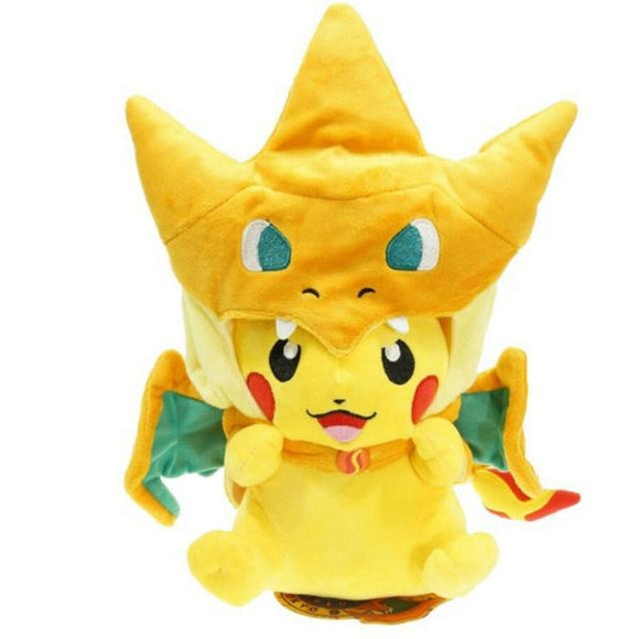 Dress Up Pikachu Plush - Orange Charizard Open - stuffed animal
