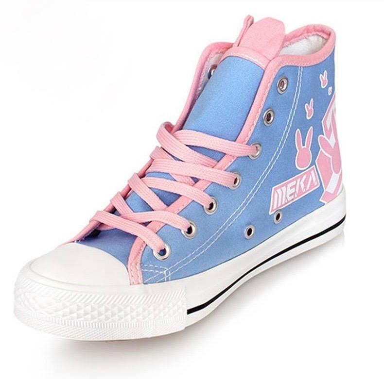 Overwatch D.VA DVA Cosplay Anime Bunny Converse All Stars Hi Top Sneaker Shoes