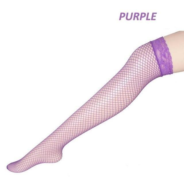 Pink Fishnet Stockings - tights