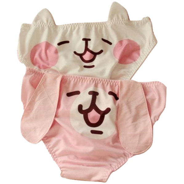 Kawaii Puppy Dog Floppy Ear Panties Undies Lingerie Cute
