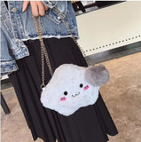 Kawaii Fluffy Cloud Handbag Purse Cross Body Bag Harajuku Fashion Little Space CGL Age Regression by DDLG Playground