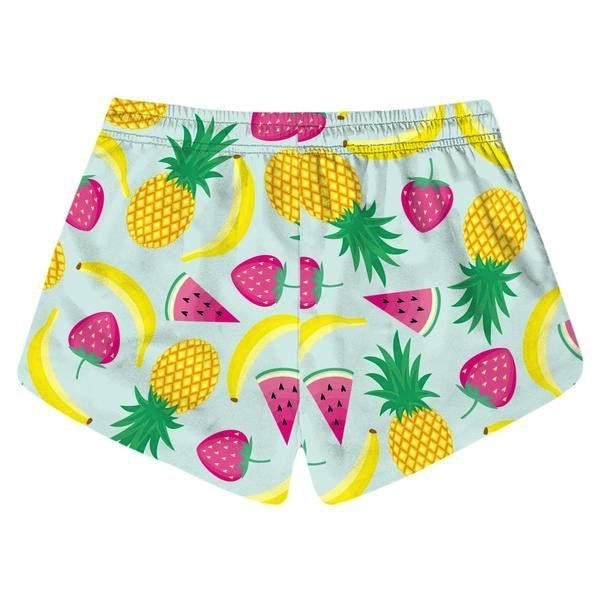 Fruit Tropical Food Athletic Shorts Kawaii Blue Short Shorts by DDLG playground