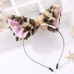 Kawaii Leopard Furry Fox Ear Headband Pet Play Little Pet Fetish Kinky Vegan Soft Fuzzy Ears