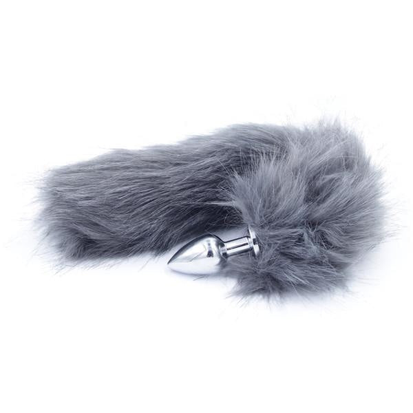 Furry Grey Fox Tail Plug Butt Plug Pet Play Kink Fetish Sexy Tails by DDLG Playground