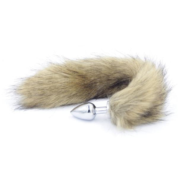 Furry Beige Fox Tail Plug Butt Plug Pet Play Kink Fetish Sexy Tails by DDLG Playground