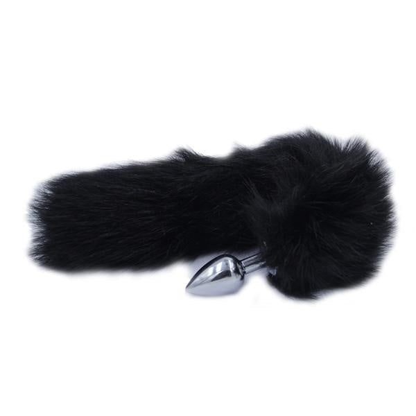 Furry Black Fox Tail Plug Butt Plug Pet Play Kink Fetish Sexy Tails by DDLG Playground