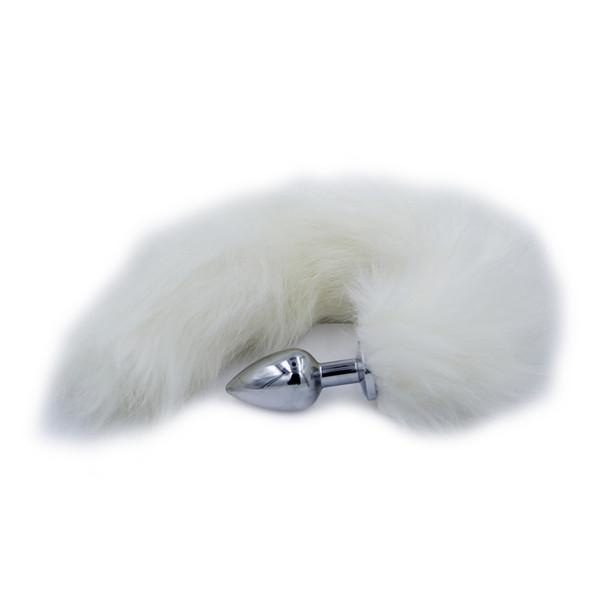 Furry White Fox Tail Plug Butt Plug Pet Play Kink Fetish Sexy Tails by DDLG Playground