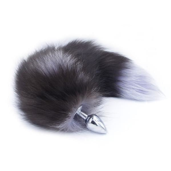 Furry Skunk Fox Tail Plug Butt Plug Pet Play Kink Fetish Sexy Tails by DDLG Playground