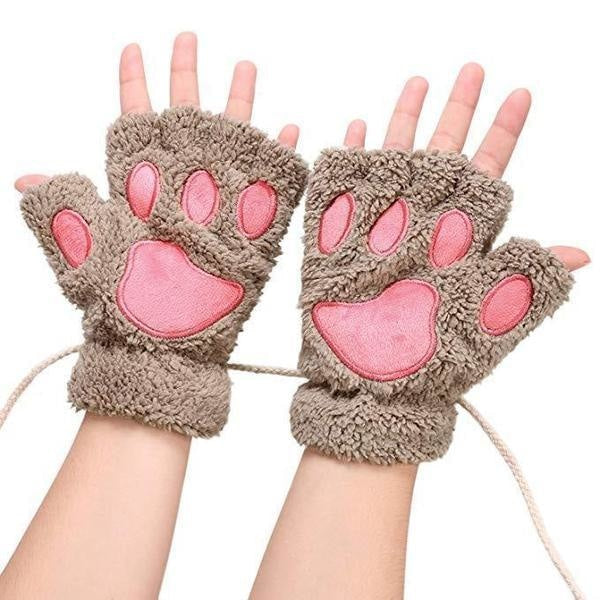 Furry Neko Mittens - gloves