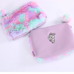 Soft Furry Pastel Purse Handbag Pom Pom Fairy Kei Kawaii Fashion by DDLG Playground