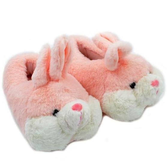 Fuzzy Bunny Slippers - Shoes