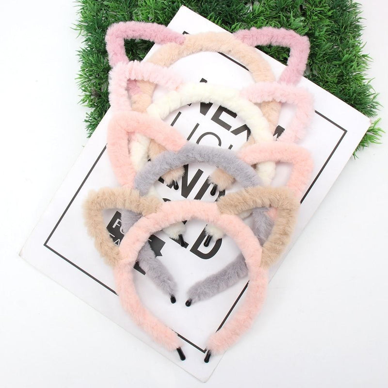 Fuzzy Ear Headbands - hair accessory