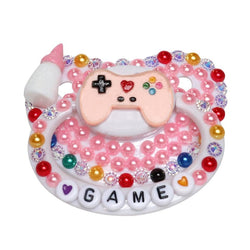 Gamer Baby Deco Pacifier - Pink - abdl, adult baby, paci, pacifier, binkies