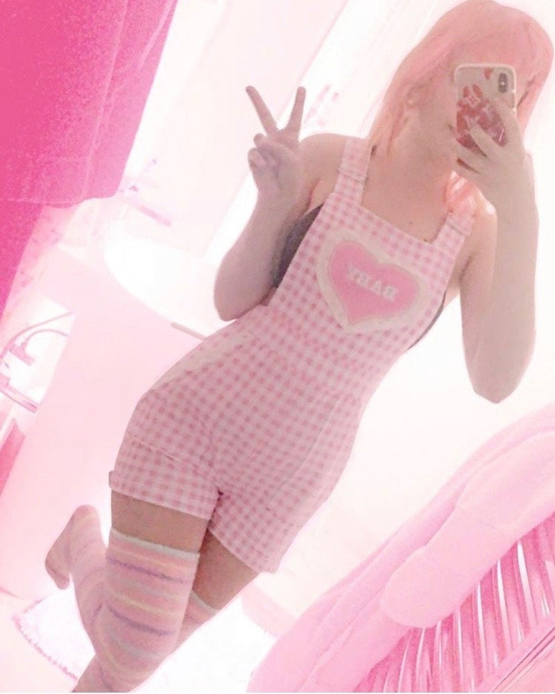 Gingham Baby Overalls - abdl, coverall, coveralls, ddlg, overals