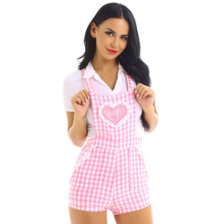 Gingham Baby Overalls - coveralls
